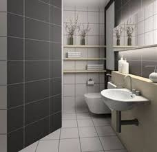 fresh modern gray and white tile bathroom 4535