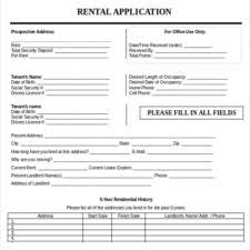 professional employment or job application form template with