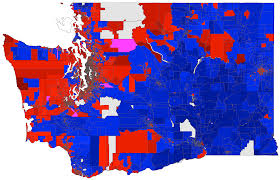 Map Of Sequim Wa Washington 2008 President By Precinct