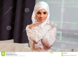 Beautiful Appearance Portrait Of A Beautiful In Eastern Appearance In A White
