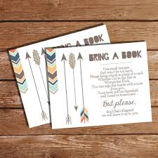 bring a book baby shower it s a boy tribal baby shower bring a book card tribal insert