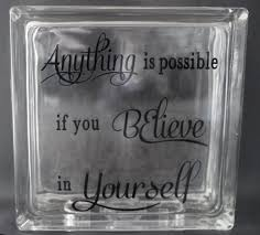 anything is possible glass block u2013 sophisticated crafts llc