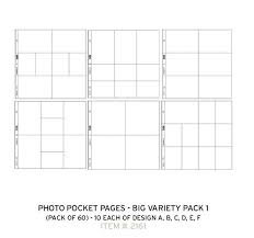 project pocket pages photo pocket pages variety pack 1 pack of 60 2161 au41 99
