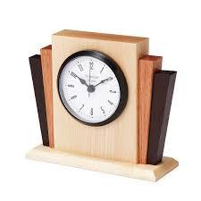 Desk Alarm Clock Deco Desktop Clock Art Deco Desk Clock Wood Uncommongoods