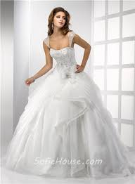 detachable wedding dress straps gown tulle wedding dress with embroidery