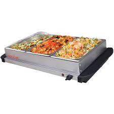 maxim electric buffet server food warmer stainless steel w 3x 2l