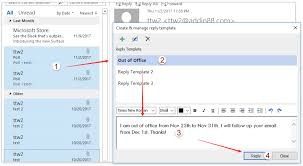how to reply emails with template text in outlook