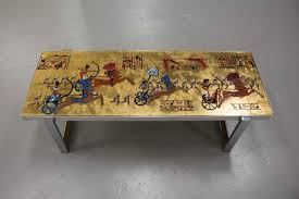 themed coffee table mid century themed coffee table by de nisco for sale at