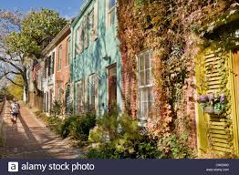 Cute Homes by Cute Homes Along C U0026o Canal In Georgetown Washington D C Stock