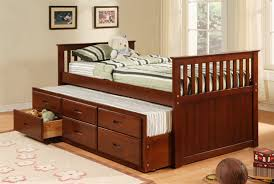Twin Sized Bed Bedroom Full Size Bed With Drawers Twin Captains Bed With