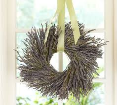 dried lavender wreath pottery barn