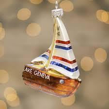 lake geneva sailboat ornament wipper willow