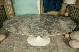 oval tulip table saarinen style table base tulip table black base