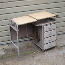 Metal Desk Vintage Twenty Gauge Vintage Metal Desk With Wood Top Salvage Furniture