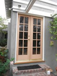 home decoration modern wooden replacement door with block glass