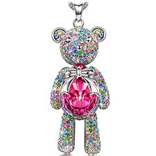 jewelry pendant necklace images J nina teddy bear necklace for women birthstone jpg