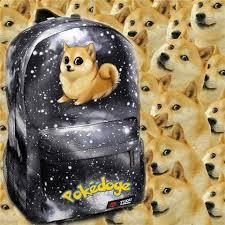 Funniest Doge Meme - wow doge meme funny joke dog shoulder bag women s canvas backpack