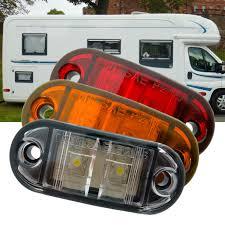 led clearance lights motorhomes 2x12v dc led side marker light surface mount clearance l for rv