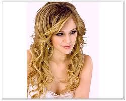 easy curly hairstyles for long hair medium hair styles ideas 17555