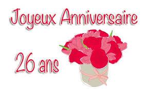 26 ans de mariage carte anniversaire mariage 26 ans bouquet
