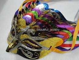 beautiful mardi gras masks wholesale fashion mask gold shining plated party mask wedding