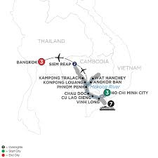 Map Of Southeast Asia Vietnam River Cruise Avalon Waterways