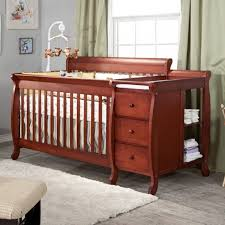white convertible crib with changing table crib ideas