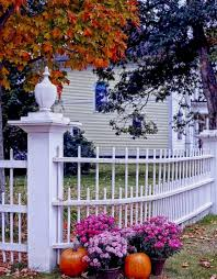 fall decorations for outside tree fence plant house leaf fall creating fall lawn