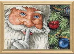 dimensions santa s secret cross stitch kit 8799 123stitch
