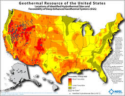 Map O Map Of Potential Geothermal Resources Across The United States
