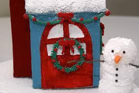 the cozy condo paper mache mini christmas house