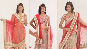 Drape A Sari How To Wear Lehenga Saree To Look Slim Step By Step U2013 5 Gorgeous