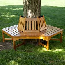coral coast fillmore wood outdoor hexagonal tree bench hayneedle