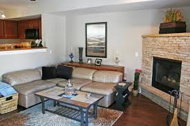 how to decorate a rectangular living room with corner fireplace