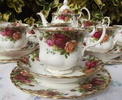country roses tea set teacup fairy