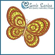yellow butterfly embroidery design emblanka com