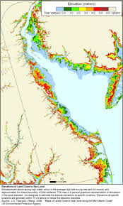 World Elevation Map by Sea Level Rise Planning Maps Likelihood Of Shore Protection In