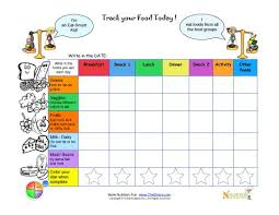Diet Tracker Spreadsheet Printable Write In Food Daily Tracking Sheet