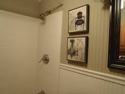 interesting white vinyl wainscoting panels for bathroom ideas