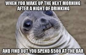 Morning After Meme - awkward moment sealion meme imgflip