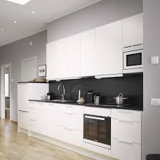 credence cuisine blanc laqué cuisine blanche et moderne ou classique en 55 idées
