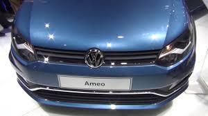 volkswagen ameo vs vento all new volkswagen ameo in blue silk at 2016 auto expo youtube