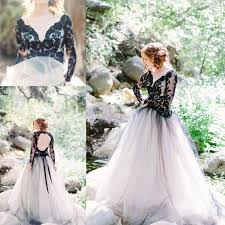 black lace wedding dresses discount moody black lace wedding dresses with