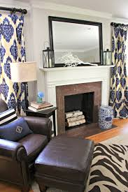 feeling blue as in navy ikat print ceiling and vaulting