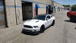 Satin Black Mustang Satin Black Roof Wrap On This Nice Mustang Makes A Difference
