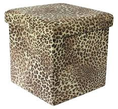 Animal Print Storage Ottoman Animal Print Folding Storage Ottoman Leopard Print Storage Buying