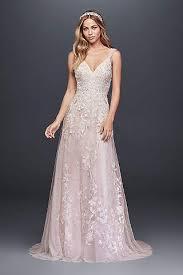 pink wedding dresses pink wedding dresses gowns david s bridal