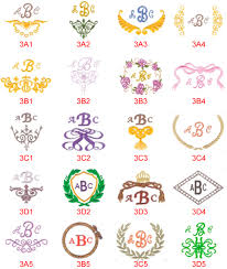 embroidery fonts monograms catalog