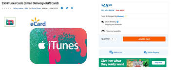 discount e gift cards itunes card deals on walmart is offering a 50 itunes