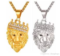 animal gold necklace images Wholesale hip hop big lion head pendant and animal necklace king jpg